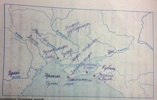 """Карта """"Северное Причерноморье в V-II вв. до н.э."""