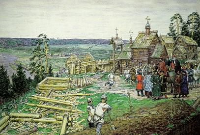 Васнецов - Основание Москвы