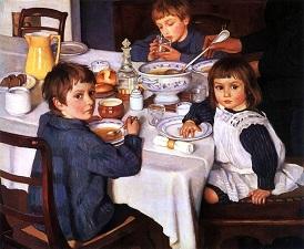Рассказ по картине Серебряковой За обедом