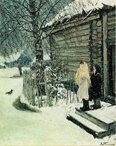 Рассказ по картине Пластова Первый снег