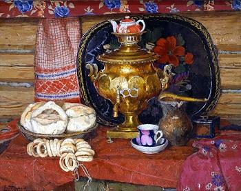 """Рассказ по картине  Стожарова """"Чай с калачами"""""""